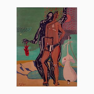 George De Goya, Evolution, 1980s, Abstract Oil Painting