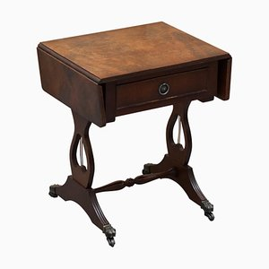 Stunning Small Crackled Hardwood Side Table