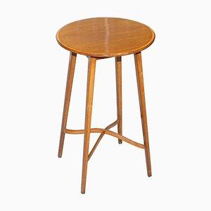 Vintage Hardwood Round Side Table