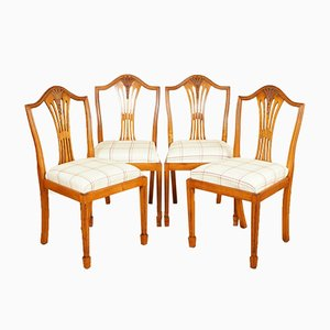 Wheater Yew Wood Dinning Chairs from Brights of Nettlebed, Set of 4