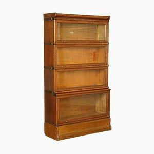 Antique 4 Section Oak Globe Wernicke Barristers Bookcase, 1920s