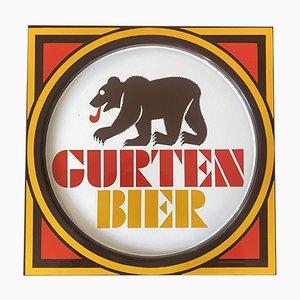 Emailliertes Schild Gurten Bier, 1960er