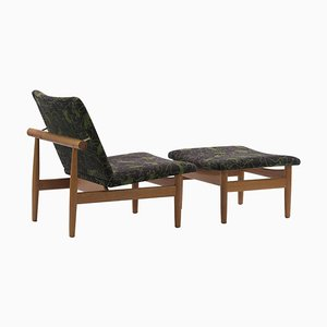 Japan Series Chair and Footstool from Finn Juhl, Set of 2