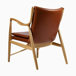 45 Chair in Wood and Leather from Finn Juhl