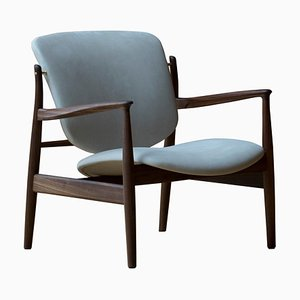 France Chair in Wood and Fabric from Finn Juhl