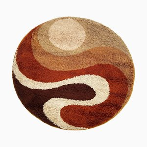Small Psychedelic No 2 High Pile Rug by Prinstapijt Desso, Netherlands, 1970s