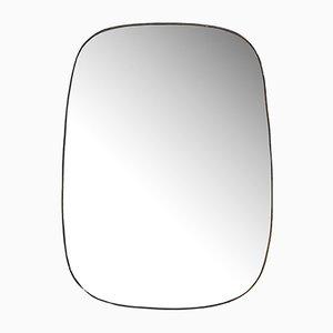 Großer Spiegel aus Messing, 1950er