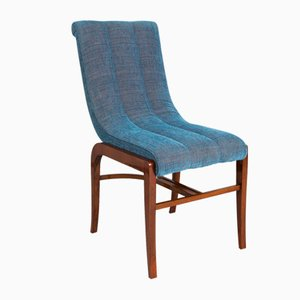 French Art Deco Restored Rosewood Chairs by Jules Leleu, Set of 2