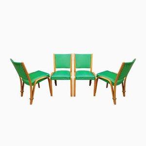 Bow Holzstühle von Steiner, 1950er, 4er Set