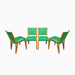 Bow Wood Chairs from Steiner, 1950s, Set of 4
