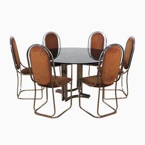 Living Room Set by Alessandro Alprizzi, Set of 7, 1970s