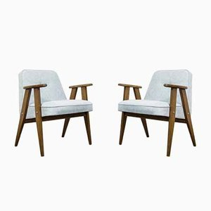 366 Lounge Chairs by Józef Chierowski for Świebodzickie Funriture Factories, 1960s, Set of 2