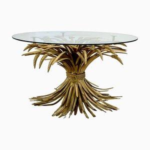 Vergoldeter Vintage Coco Chanel Weizenbündel Tisch