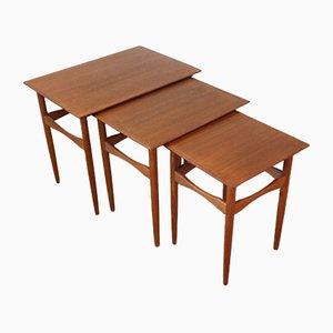 Skandinavische Türkei Tische von Poul Hundevad für Fabian, 1960er, 3er Set