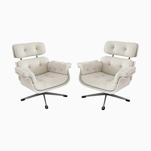 Vintage Eames Style Swivel Lounge Chairs, 1970s, Set of 2