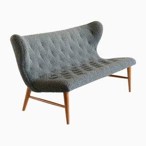 Sofa in Green Dedar Bouclé and Beech by Eric Bertil Karlén, Sweden, 1940s