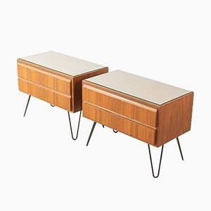 Mesitas de noche de Oldenburg Furniture Workshops, años 50. Juego de 2