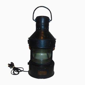 Lámpara de barco industrial vintage de Tupow A, años 60