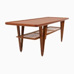 Mid-Century Teak and Oak Coffee Table by Kurt Østervig