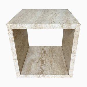 Travertine Stone Cube Beistelltisch