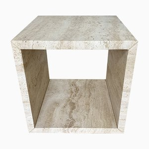 Travertine Stone Cube Side Table