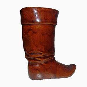 Vintage Polish Shoe Shaped Ceramic Vase Signed Jaro