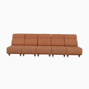 Mid-Century Sofa oder Sessel von Guillerme Et Chambron, 5er Set