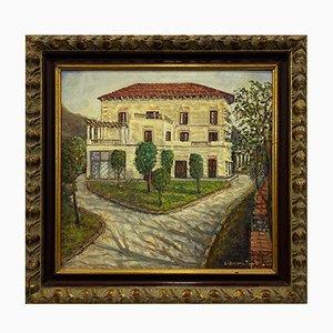 Giacomo Pontillo, Landschaft, Öl auf Hartfaser