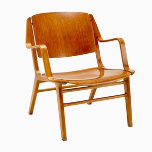 Ax Armchair by Peter Hvidt & Orla Mølgaard-Nielsen for Fritz Hansen, Denmark, 1950s