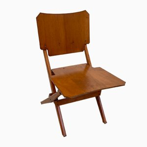 Folding Chair with Solid Wood Frame by Franco Albini for Poggi, 1952