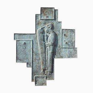 Brutalistisches Relief aus geschweißtem Metall, Frankreich, 1950er