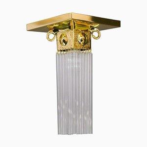 Wiener Art Deco Deckenlampe mit Glasstäben, 1920er