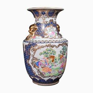 Dekorative italienische Vintage Art Deco Stil Vase aus Keramik, 1940er