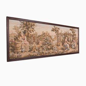 Antike französische edwardianische 5 '' Panorama-Wandtafel mit Nadelspitze, 1910er