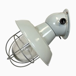 Lámpara de pared industrial de aluminio, años 60