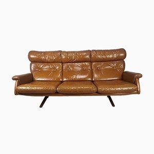 Vintage Scandinavian Leather Sofa