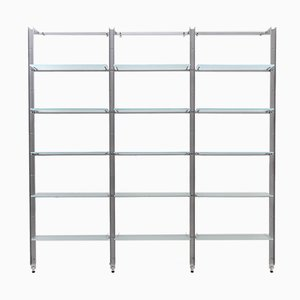 Armida Bookcase in Steel and Glass by Flavio Caronni and Donato Bonanomi for Desalto, 1990s