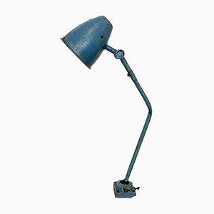 Lámpara de mesa industrial en azul, años 60