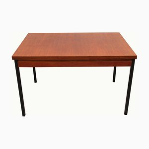 Extendable Dining Table in Teak with Metal Legs, 1960s