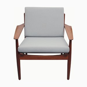 Armchair in Light Gray by Arne Vodder for Glostrup, 1960s