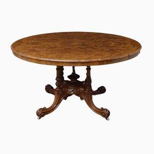 Viktorianischer Ess- oder Tisch aus Nussholz