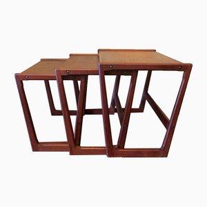 Danish Teak Nesting Tables by Holger Georg Jensen for Kubus, 1960s