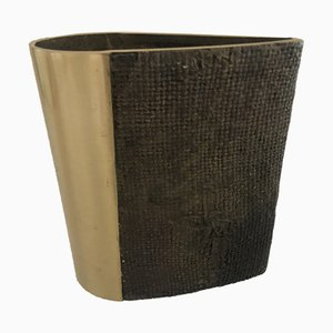 Bronze gegossene Vase von Antonella Caprio Saviato