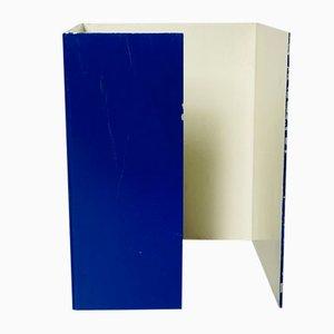 Lámpara de mesa italiana Mid-Century moderna de metal azul, años 70
