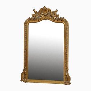 Espejo de pared francés dorado
