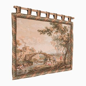 Large Vintage Decorative Continental Needlepoint Tapestry Panel, 1980s