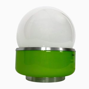 Lámpara de mesa modelo Corsica era espacial de cristal de Murano de Stilux Milano, años 60