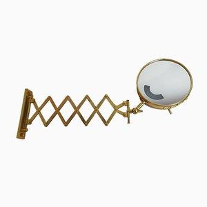 Mid-Century Brass Illuminated Bellows Mirror, 1960s