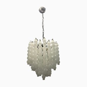 Lámpara de araña italiana Mid-Century de cristal burbuja