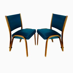 Bow Wood Chairs by Steiner, Set of 2
